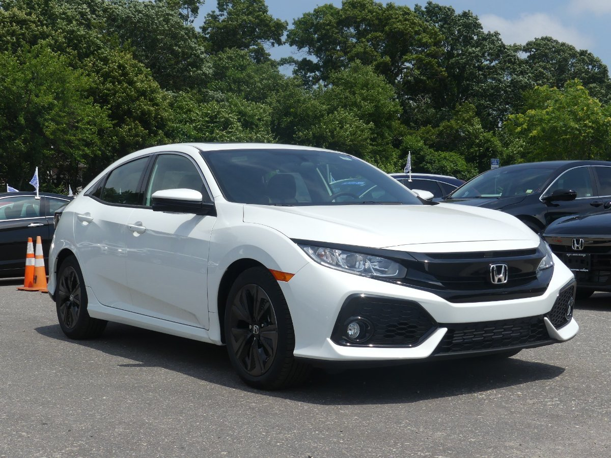New 2018 Honda Civic Ex Hatchback In Rochelle 20183134 Of